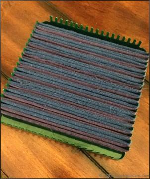 woven cotton potholder