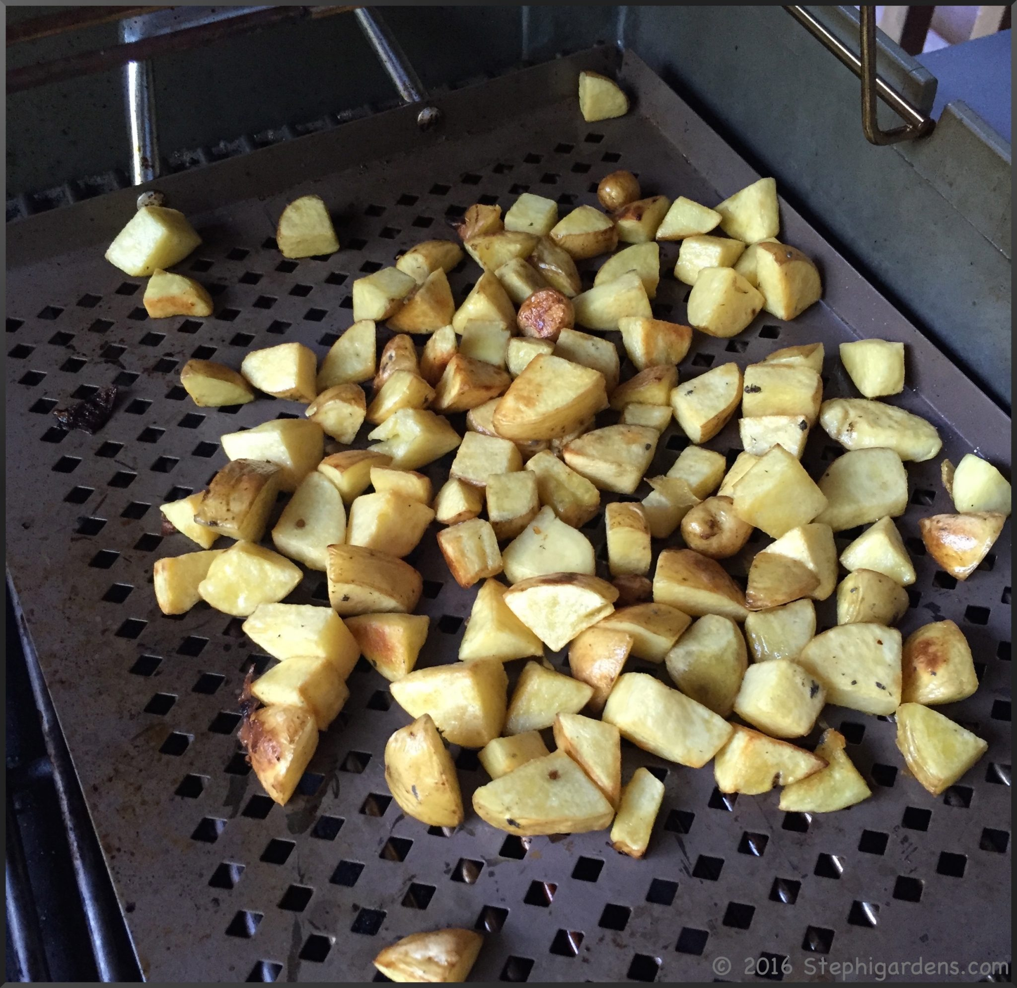 Grill Roasted Potatoes | Stephi Gardens